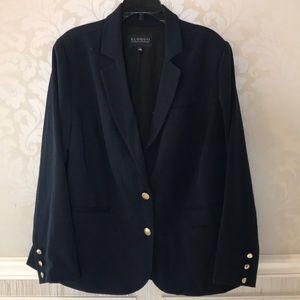 Eloquii 16 navy single lapel essential blazer